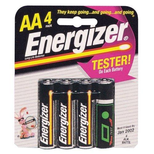 Energizer Max Aa 4Pk Retail Card Alkaline 1.5V E91 Lr6 Battery front-454984
