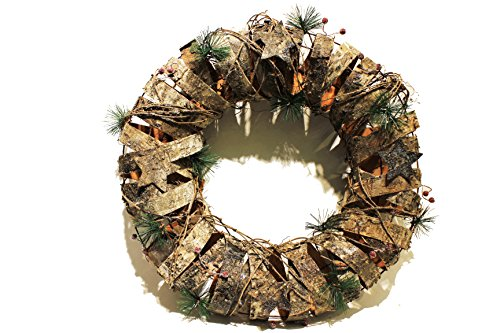 #1 Best Selling Christmas Wreaths - Premium Decor Holiday Door Christmas Wreath, Home Decorations, Handcrafted with Natural Materials - Decorations for Christmas, Thanksgiving, and Winter Holidays (Pine Cone Burlap Curtains compare prices)