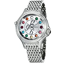 Fendi Crazy Carats Ladies Silver Dial Stainless Steel Watch F105036000T02