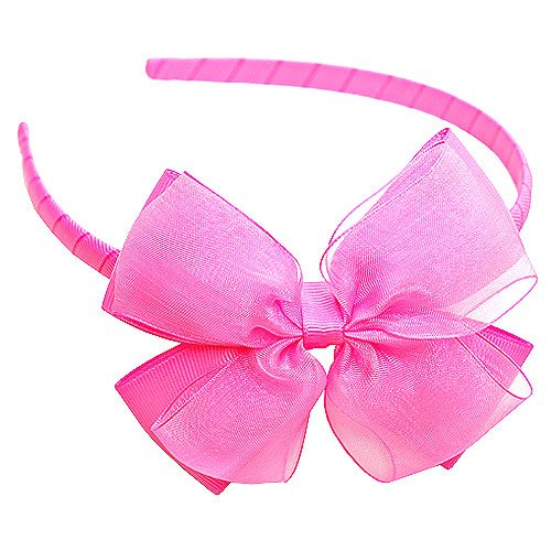 Boutique Baby Girl Accessory Grosgrain HAIRBAND HOT PINK Hair Bow
