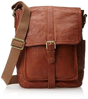 Amazon.com: Fossil Men's Ledger Leather Commuter Bag