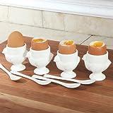 RSVP 8 Piece Egg Cup & Spoon Set
