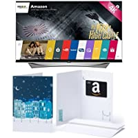 LG Electronics 65UF9500 65-Inch 4K Ultra HD 3D Smart TV and $200 Amazon.com Gift Card<br />