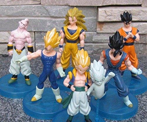 [6pcs/lot 10cm Dragon Ball Goku Vegeta Buu Gohan super saiyan dragon ball z action figures Toy] (Buu Costume)