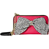Betsey Johnson Hopelessly Romantic Convertible Clutch Wallet (Fuchsia)