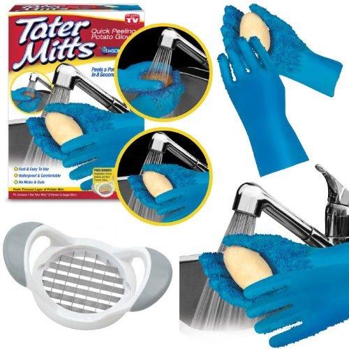 Tater Mitts - Potato Peeling Gloves - As Seen On Tv