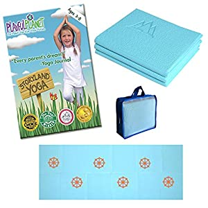 Yoga for Kids Set: Best Yoga DVD, Yoga Mat and Yoga Mat Bag