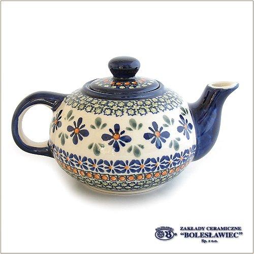 ポーリッシュポタリー/ティーポット(Boleslawiec/ボレスワヴィエツ陶器)-du60
