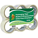 Duck Brand Commercial Grade Packaging Tape, 1.88-Inch x 54.6 Yards, 6 Rolls per Pack, Clear (240053)