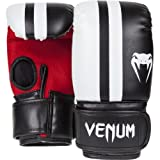 Venum Elite Bag Gloves - Black/Ice/Red, Small/Medium