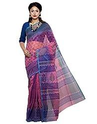 Unnati Silks Women pink color supernet saree