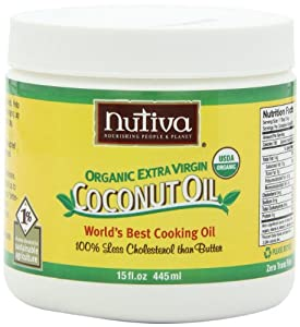 Nutiva Organic Extra Virgin Coconut Oil, 15-Ounce (Pack of 2)