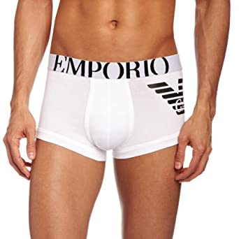 Emporio Armani Knit Trunk - Boxer - Uni - Homme - Blanc (Bianco) - Large (Taille Fabricant: L)