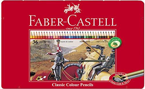 faber-castell-115846-crayons-de-couleur-hexagonal-boite-metal-36x