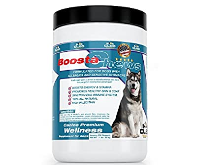Nutritional Supplements for Dogs - Cleo BoostaChews the All-in-one Complete Dietary Vitamins and Minerals Chews to Enhance Overall Wellness of Canines: 1 Lb Tub (Approx 200 Nuggets)