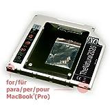 """HDD/SSD SATA III Caddy für Apple MacBook (Pro) 13"""" 15"""" 17"""" (ersetzt SuperDrive) - 9,5 mm Festplattenrahmen Einbaurahmen (SATA auf SATA) - TheNatural2020"""