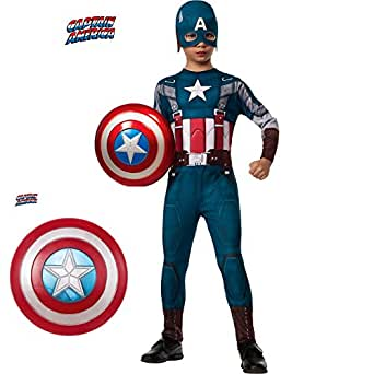 Captain America 2 Winter Soldier Classic Costume Kit for Kids w Shield
