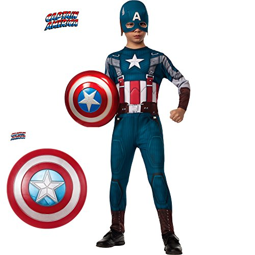 Captain America 2 Winter Soldier Classic Costume Kit for Kids w Shield Medium