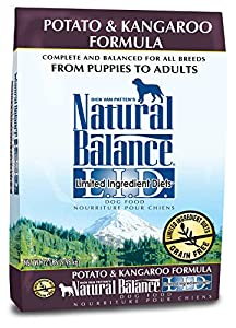 Dick Van Patten's Natural Balance L.I.D. Limited Ingredient Diets Potato and Kangaroo Dry Dog Food, 22-Pound
