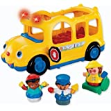 Game / Play Fisher-Price Little People Lil' Movers School Bus. Toy, Figure, Wheels, Ride, Character, Children Toy / Child / Kid