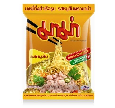 Mama brand Thai instant pork noodles - 10 packs