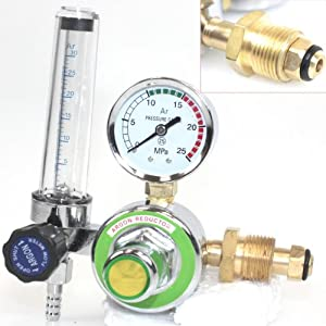 Argon Co2 Gas Mig Tig Flow Meter Welding Weld Regulator Gauge Welder Cga580 Fits from I_S IMPORT