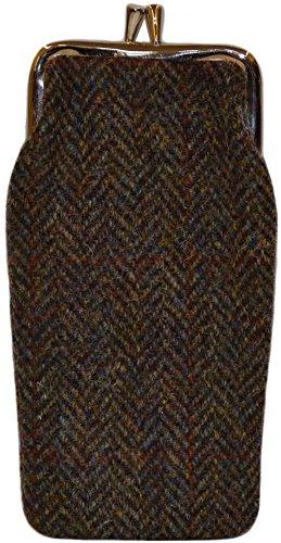 donne-completamente-allineato-marrone-a-spina-di-pesce-harris-tweed-cassa-di-vetro