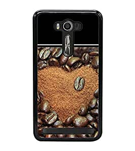 Coffee Beans heart 2D Hard Polycarbonate Designer Back Case Cover for Asus Zenfone 2 Laser ZE500KL (5 INCHES)