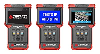 Triplett CamView IP PRO Ruggedized IP & Analog Camera Tester with Built-In DHCP Server