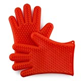 Zenware Set of 2 Silicone Heat Resistant Oven Mitts BBQ Gloves for Cooking, Grilling & Baking