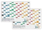 LYSCO Rainbow Wandkalender gefaltet