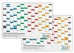 LYSCO Rainbow Wandkalender gefaltet /...