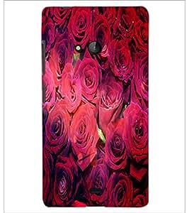 PrintDhaba Roses D-4852 Back Case Cover for MICROSOFT LUMIA 540 (Multi-Coloured)