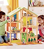 Hape Contemporary All-Season 3-Story Dollhouse with Furniture