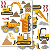 Wandkings wall stickers Construction Machines Sticker Set more than 30 stickers on 2 A4 sheets