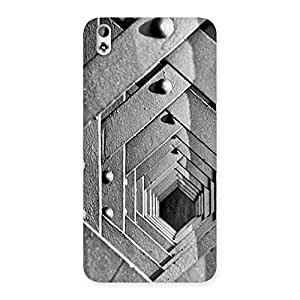 Cute Block Cage Back Case Cover for HTC Desire 816