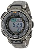 "Casio Mens PAG240T-7CR ""Pathfinder"" Triple-Sensor Multi-Function Titanium Watch"