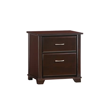 Night and Day Furniture Juniper 2 Drawer Night Stand in Chocolate Finish