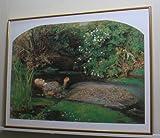 ジョン・エヴァレット・ミレイ *オフィーリア【ポスター+フレーム】約61x 81cm ゴールド(ヘアライン)
