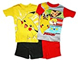 Pokemon Big Boys 4 Pc Short Cotton Pajama Set