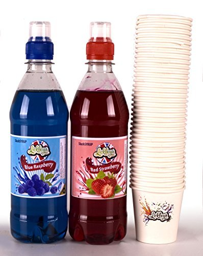 twin-pack-of-500ml-slush-syrup-concentrates-blue-raspberry-and-red-strawberry-includes-50-x-free-sno