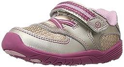 Stride Rite SRT Kelsey Sneaker (Toddler),Silver/Pink,6 M US Toddler