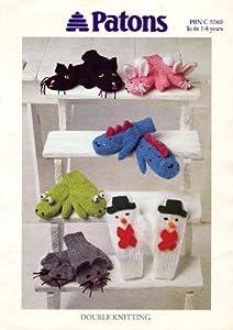 Novelty Knitting Pattern Books : Patons Childrens Novelty Mittens Knitting Pattern: To Fit 1-8 years: Ama...