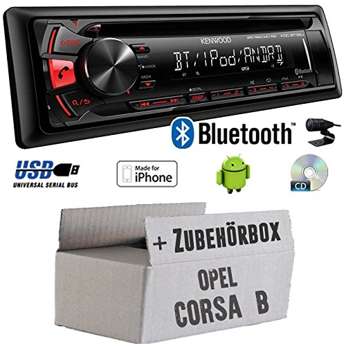 Vauxhall Zafira B Kenwood Car Stereo CD MP3 USB iPhone Light Silver Fascia Kit