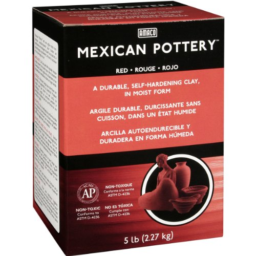 AMACO Mexican Self-Hardening Clay, 5-Pound, Red