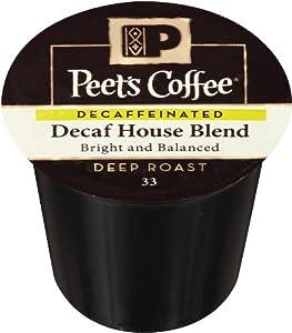 Peet's Coffee DECAF House Blend Single Cup Capsule (96 Count) by Peet's Coffee and Tea