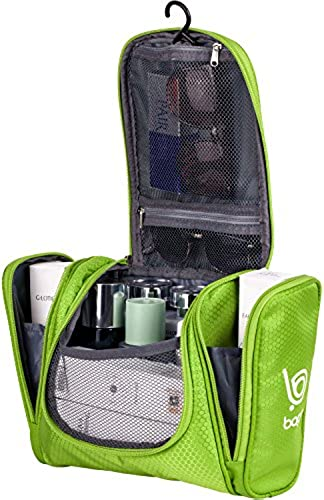 01. Bago Toiletry Bag For Men & Women - Hanging Toiletries Kit For Makeup, Cosmetic, Shaving, Travel Accessories
