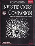 Investigators Companion vol. 2 (Call of Cthulhu Horror Roleplaying, 1920s, #2346)