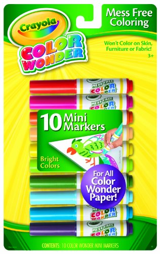 Crayola 10 Count Color Wonder Mini Markers Bright