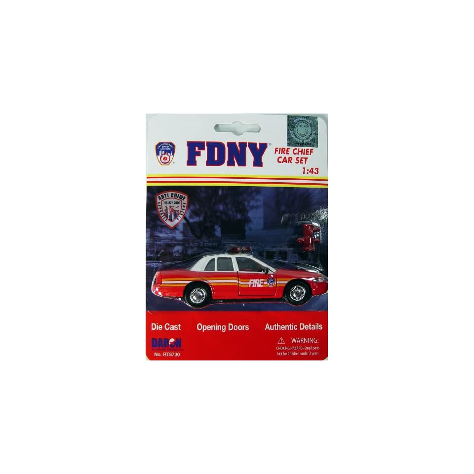 FDNY Model Car Ford Crown Victoria Diecast 1/43 Scale Officially Licensed by The New York Fire Police Department